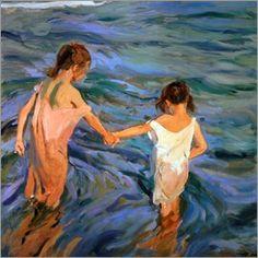 Joaquin Sorolla y Bastida - Kinder im Meer