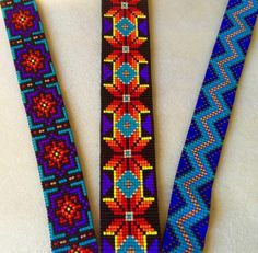 An Albuquerque based jewelry maker, specializing in bead loom work, peyote stitch, and fine silver jewelry. Native Beading Patterns, Peyote Beading Patterns, Loom Bracelet Patterns, Beadwork Designs, Bead Loom Bracelets, Bead Loom Patterns, Loom Beading, Beaded Hat Bands, Handmade Jewelry Box
