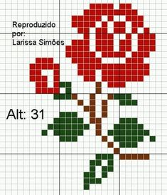ideas embroidery patterns rose punto croce for 2019 Cross Stitch Beginner, Mini Cross Stitch, Cross Stitch Cards, Cross Stitch Borders, Cross Stitch Rose, Modern Cross Stitch, Cross Stitch Flowers, Cross Stitch Designs, Cross Stitching