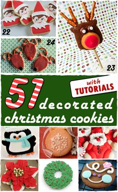 51 of the most beautiful and creative decorated Christmas cookies with a tutorial for how to make each and every one.
