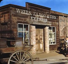 Wells Fargo is Now Offering a Free Credit Score Check Old Western Towns, Western Signs, Western Saloon, Western Theme, Western Decor, Cowboy Western, Western Style, Old Buildings, Abandoned Buildings