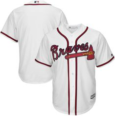 When you go to Atlanta Braves games, you like to be outfitted in the best of the best game day wear. Arrive in this Atlanta Braves Cool Base Team Jersey from Majestic and you'll be ready to cheer your favorite team on to victory! Braves Game, Braves Baseball, Baseball Jerseys, Baseball Players, Football Gear, College Football, Nfl Team Apparel, Atlanta Braves, Big & Tall