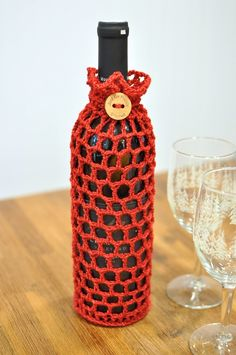 Just be happy!: Wine Cozy {Free Pattern}