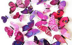 12/24pcs 3D Butterfly Wall Sticker Home Decoration PVC Art Wall Fridge Magnet