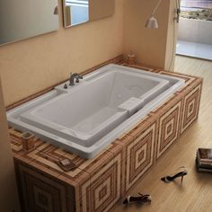 Atlantis Whirlpools 4678IWL Infinity 46 x 78 Endless Flow Whirlpool Jetted Bathtub