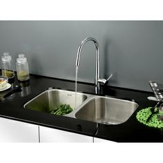 Ruvati 33-inch Undermount Double Bowl Kitchen Sink | Overstock.com Shopping - The Best Deals on Kitchen Sinks
