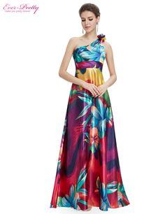 Gorgeous Satin One Shoulder Long Goddess Dress