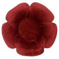 """Flower-shaped velour dog bed.   Product: Pet bedConstruction Material: Upholstery grade velour fabric and eco-friendly hypo-allergenic poly-fillColor: BordeauxFeatures: Designed by Jax & BonesMade in the USAAccommodates: Fits dogs up to 15 lbsDimensions: 5"""" H x 25"""" Diameter Cleaning and Care: Machine wash delicate cycle, mild detergent in front loading washer only.  Line dry or tumble dry low as needed."""
