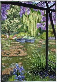 Monet's Lily Pond quilt