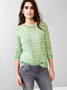 Fair isle wool sweater Product Image