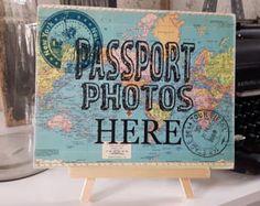 Baggage Claim Favor Table Sign Travel Theme Wedding Favors