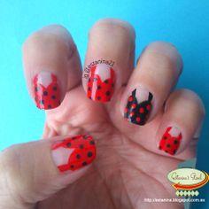 Uñas inspiradas en los 50's mas un regalo(descargable) ... 50s inspired nails plus some freebies :D