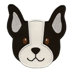Boston Terrier Applique, 2 Styles - 3 Sizes!   Tags   Machine Embroidery Designs   SWAKembroidery.com Applique for Kids