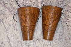 Armstulpen  Leder Thors Hammer