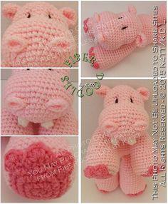 INSTANT DOWNLOAD : KISS Series  Hippopotamus von FiberDoodlesbyK4TT