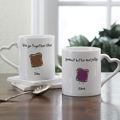 We Go Together Like… Personalized Mug Set - 21 Creative DIY Valentine Day Gifts For Him
