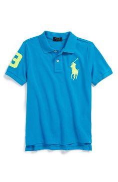 Ralph Lauren Neon Mesh Polo (Big Boys) available at #Nordstrom