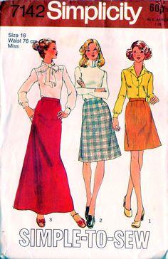 1975 A-line skirt pattern