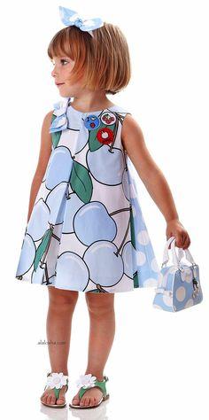 ALALOSHA: VOGUE ENFANTS: NEW SEASON SS'16: Younger girls powder prints dresses…