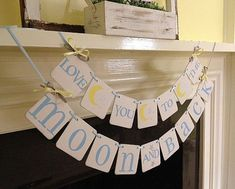 I Love You To The Moon And Back Banner Nursery by ClassicBanners I Love You To The Moon And Back Banner, Nursery Decoration, child's room decor, Nursery sign garland Baby shower decoration CUSTOM COLORS