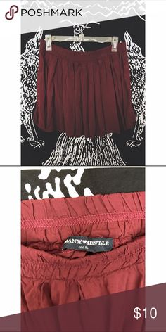 Brandy Melville Maroon Skirt ⇻◈Brand: Brandy Melville  ⇻◈Size: ONESIZE  ⇻◈Condition: Preowned, gently worn. No flaws!  ⇻◈Thank you for viewing! If you have any additional questions, please comment below! Brandy Melville Other
