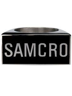 "Men's SOA ""Samcro"" Steel Ring by Inox Jewelry #InkedShop #InkedMag #Samcro #Steel #Ring"