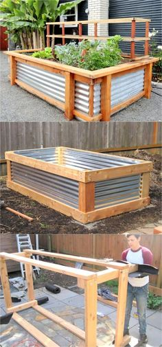 28 most amazing raised bed gardens, with different materials, heights, and many creative variations. Great tutorials and ideas on how to build raised beds ! A Piece of Rainbow diy garden backyard 28 Amazing DIY Raised Bed Gardens Raised Vegetable Gardens, Vegetable Garden Design, Vegetable Gardening, Veggie Gardens, Side Gardens, Vegetable Planters, Succulent Gardening, Outdoor Projects, Garden Projects