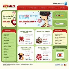 Gifts Presents osCommerce Templates by Modlin