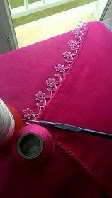 Crochet and Knitting Filet Crochet, Stitch Crochet, Crochet Lace, Crochet Stitches, Crochet Edging Patterns, Crochet Borders, Baby Knitting Patterns, Crochet Designs, Kutch Work Designs