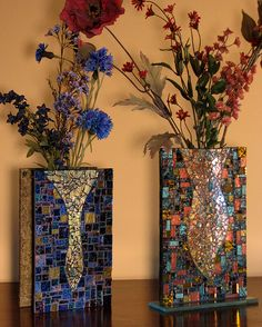 two mosaic vases...I love these!!