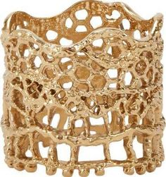Like the lace/basket weave and width.  Aurélie Bidermann Women's Lace Ring-Colorless