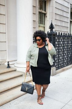 A classic little black dress might seem a little fancy to wear when it's light out, but if you throw a more casual jacket over it and wear it with flats, it's totally appropriate for the daytime. See the whole look at And I Get Dressed »  - GoodHousekeeping.com