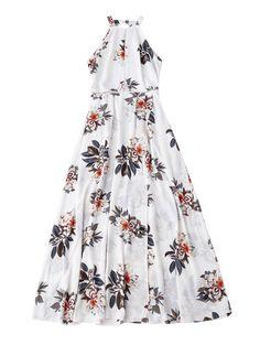 Bohemian Maxi Floral Open Back Dress – White – – Women's Clothing, Dresses, Print Dresses # # Open Back Maxi Dress, Open Back Dresses, Backless Maxi Dresses, White Maxi Dresses, White Boho Dress, White Bohemian, Look Boho, Boho Style Dresses, Floral Maxi Dress