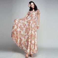 Bohemian-Chiffon-long-Dress