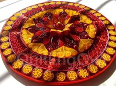 3D quilled mandala created using 5mm strips of paper