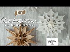 DIY: große Weihnachtssterne aus Brotpapiertüten – Deko-Kitchen