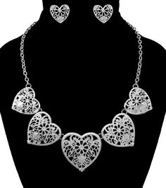 Heart Shape Necklace Set for Valentine's Day