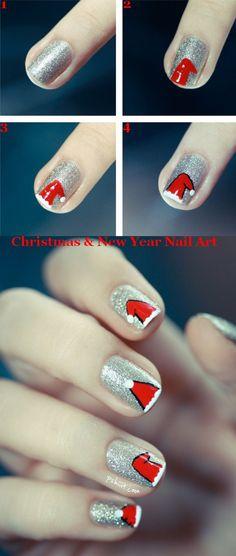 Christmas & New Year nail art.