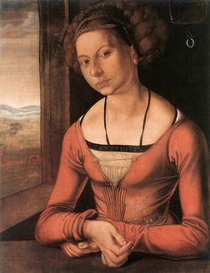 Albrecht Dürer (1471-1528) — The Fürlegerin with Braided Hair,    с.1497 : Gemäldegalerie, Berlin.  Germany     (736×960)
