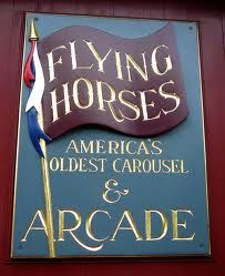 Flying Horses Carousel, Oak Bluffs, Martha's Vineyard. Catch the brass ring!