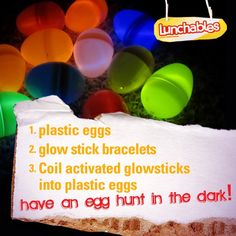 glow in the dark eggs!