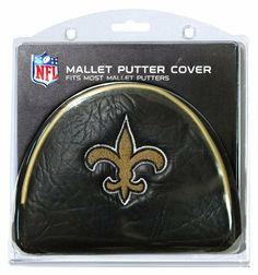 NFL New Orleans Saints Golf Mallet Putter Cover Made with Buffalo Vinyl and  Polyester Knit 2 location embroidery includes both logo and wordmark Fits  most ... b363e3542