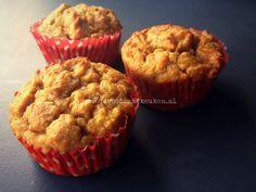 Appelmuffins zonder noten en granen   Heerlijke muffins voor ieder moment van de dag, ook als ontbijt! Roer in een andere kom de droge ingrediënten door elk
