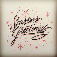 Merry christmas retro poster with hand lettering christmas ball and typeverything seasons greetings by matthew tapia m4hsunfo