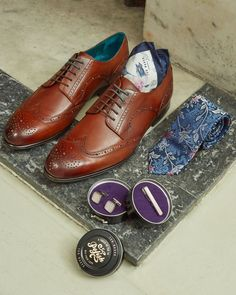 BRUSH UP your brogues and polish your one-liners Leather Brogues, Tie The Knots, Bridal Boutique, Well Dressed, Timeless Fashion, Ted Baker, Oxford Shoes, Dress Shoes, Lace Up