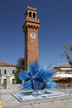 Clock Tower and Glass Work in Murano Italy