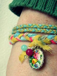 Trisha Brink Design: Vintage Sheeting bracelet.
