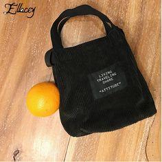 New 2017 Women Corduroy Handbags For Ladies Mini Shoulder Messenger Bags Letter Pattern Designer Casual Simple Tote Bags