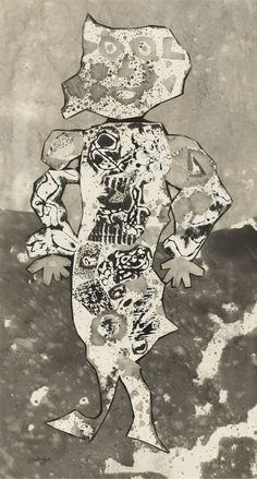 MCA – Collection: Jean Dubuffet, Un tour au bon air, 1955 Jean Dubuffet, Museum Of Contemporary Art, Outsider Art, French Art, Graphic Shirts, Craft, Collage Art, Tours, Watercolor