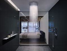 Edmonds + Lee Architects have designed the gorgeous oriental warehouse loft conversion. The project is located in San Francisco's South Beach neighborhoo Modern Shower, Modern Bathroom, Small Bathroom, Contemporary Shower, Basement Bathroom, Loft Bathroom, Minimalist Bathroom, Washroom, Bathroom Interior